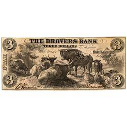 UT, Salt Lake City--Drovers Bank $3