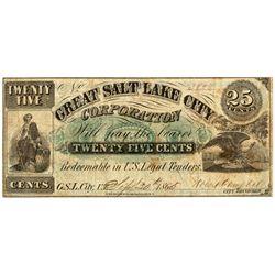 UT, Salt Lake City--Great Salt Lake City Corporation 25c