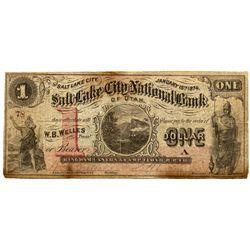 UT, Salt Lake City--Salt Lake City National Bank of Utah $1