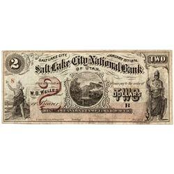 UT, Salt Lake City--Salt Lake City National Bank of Utah $2