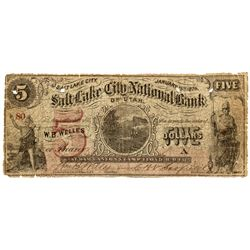 UT, Salt Lake City--Salt Lake City National Bank of Utah $5