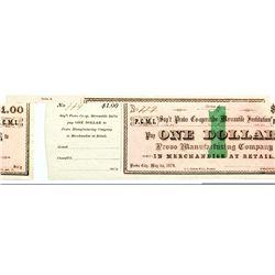 UT, Provo-Utah County-Provo Co-operative Mercantile Institution $1