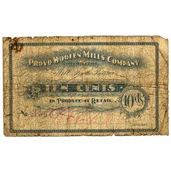 UT, Provo-Utah County-Provo Woolen Mills 10c
