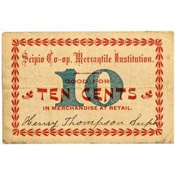 UT, Scipio-Millard County-Scipio Co-Operative Mercantile Institution 10c