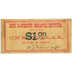 UT, Scipio-Millard County-Scipio Co-Operative Mercantile Institution $1
