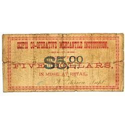 UT, Scipio-Millard County-Scipio Co-Operative Mercantile Institution $5