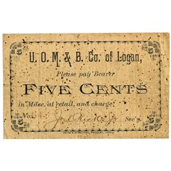 UT, Logan-Cache County-United Order of Manufactures & Builders 5c