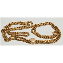 3.38 Troy oz.,14 K. Gold Victorian Necklace