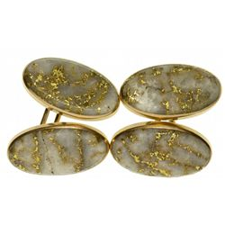 Antique Gold Quartz Cufflinks