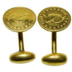 California Gold Token Cufflinks