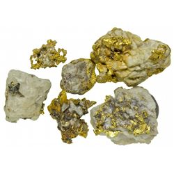 Gold in Quartz Specimens