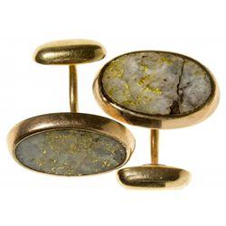 Gold Quartz Cufflinks