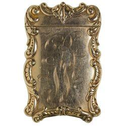 CA, San Francisco--Engraved Gold Match Case