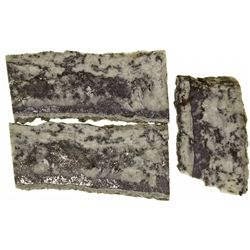 CO, Creede District--Native Silver and Acanthite Ore Slabs from Bulldog Mine