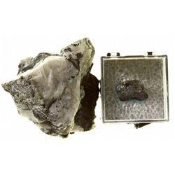 MT, Troy-Lincoln County-Native Silver, Bornite, and Quartz