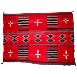 Authentic Traditional 2nd Phase Navajo Chief Rug