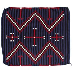 Dark Blue Chief Blanket Style Rug