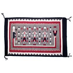 Modern Yei Rug in Traditional Colors