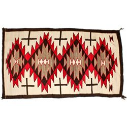 Navajo Rug with Spirit Lines