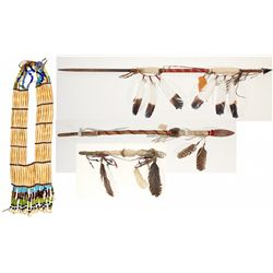 Plains and Sioux Spears, Dance Stick, and Breastplate
