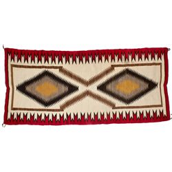 Red and White Eye Dazzler Rug