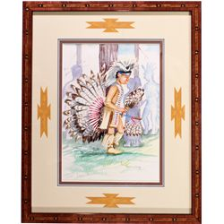 NVNative Boy Watercolor Painting