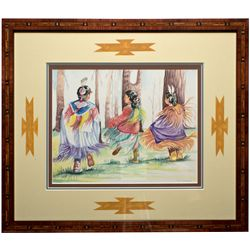 NVNative Dancers Watercolor Painting