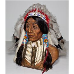 Domiani Chief Bust and Bonnet