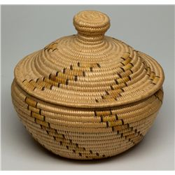 Panamint Polychrome Lidded Bowl
