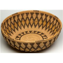 Panamint Wide Mouth Bowl with Diamond Design