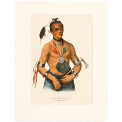Hoo-wa-ne-ka A Winnebago Chief Print