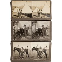 MT, Butte--N.A. Forsyth Stereoviews of Native American Chiefs
