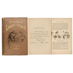 NY, New York--Twain's Library of Humor First Edition