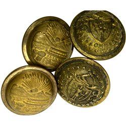 Military Uniform Brass Button Assortment