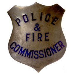 Police & Fire Commissioner Badge