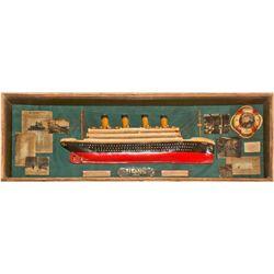 Titanic Model in Shadow Box