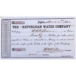 CA, Algiers-Tuolumne County-Republican Water Company Scrip