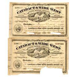 CA, Calaveras County--Calaveras Co. Mining Stock Certificate Pair