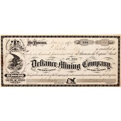 CA, Darwin-Inyo County-Defiance Mining Stock