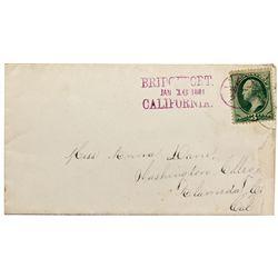 CA, Bridgeport-Mono County-Rare Bridgeport Cover