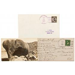 CA, Chalfant-Mono County-Rare Chalfant Cover & Card Duo