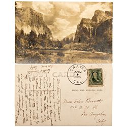 CA, Crater-Inyo County-Rare Crater CA Postmarked Cancelled Real Photo Postcard