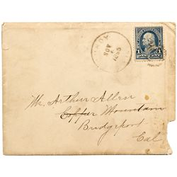 CA, Lundy-Mono County-Lundy and Bodie Postmarked Postal Cover