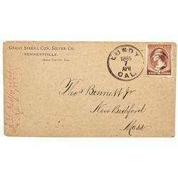 CA, Lundy-Mono County-Lundy Postmarked Corner Advertising Cover