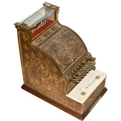 CA, Lone Pine-Mono County-Antique National Brass Cash Register