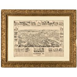 CA, Placerville-El Dorado County-Bird-Eye View of Placerville Print