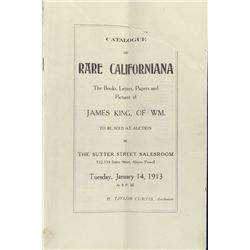 CA, San Francisco--James King of William Auction Catalogue