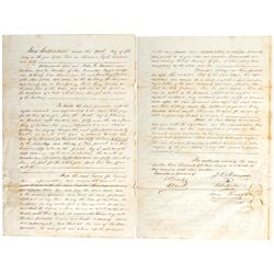 CA, San Francisco--James King of William Signed Indenture