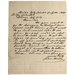 ID, Boise City-Ada County-Idaho Territory Delegate Letter