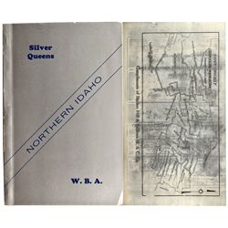 ID, Kellogg-Shoshone County-Coeur d'Alene Mining District Booklet with Map Printed on Silver